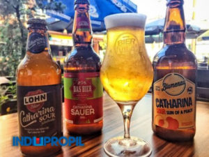 cerveja-catharina sour-3- garrafas-1-taça